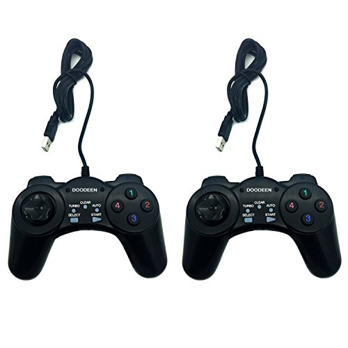 DOODEEN-PC-Game-Controller-Joystick-2-Pack-Black