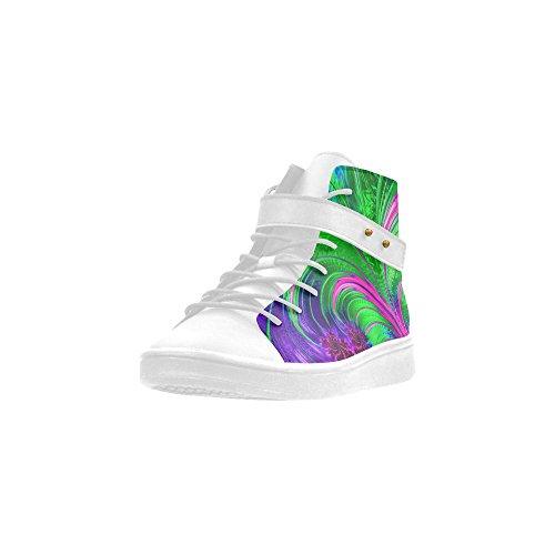 D-story Ronde Neus Hoge Top Schoenen Pattern Arts Women Sneakers