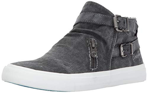 Blowfish Women's Mondo Sneaker, Grey Smoked Canvas, 8.5 Medium US