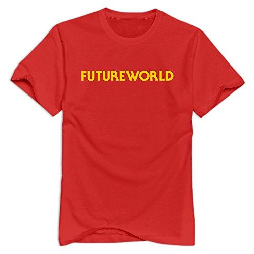 Tavil Futureworld 100% Cotton T Shirts For Adult Red Size XL