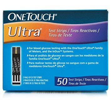 One Touch Ultra Test Strips 150 ( 50x3) PACK OF 3