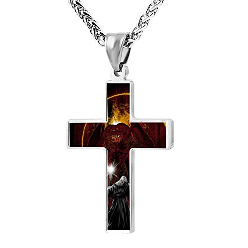 (Kenlove87 Patriotic Cross Demon Of The Ancient Religious Lord'S Zinc Jewelry Pendant)