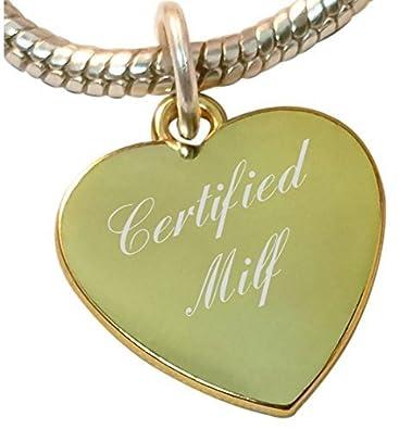 Zertifiziert MILF Herz Charme, kompatibel mit Pandora und Chamilia ...