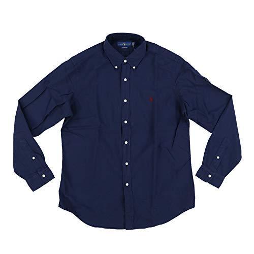 Polo Ralph Lauren Mens Classic Fit Oxford Longsleeve Buttondown Shirt (L, Navy - Shirt Fit Ralph Classic Lauren