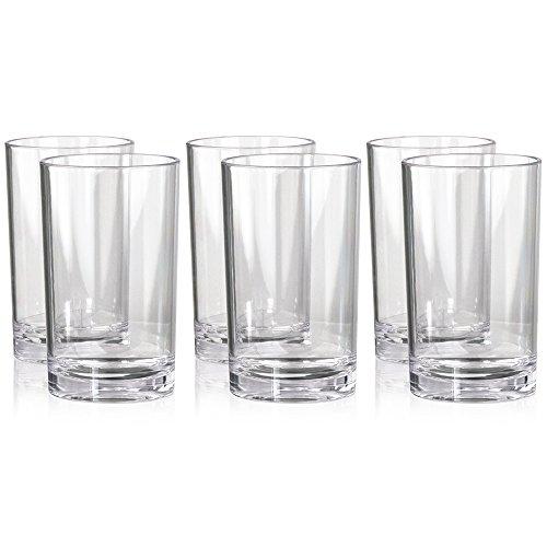 Classic Premium Quality Plastic 9oz Juice Tumbler | Set of 6
