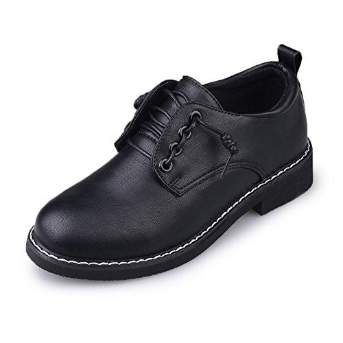 de Zapatos vintage grueso A zapatos Zapatos Academy de British primavera de tacón mujer estilo señora 5UH1fW