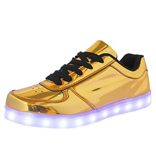 (Present:kleines Handtuch)JUNGLEST® Damen/Herren LED Leuchtend Spo Gold