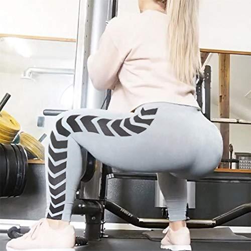 ZEFOTIM Womens Arrow Print Yoga Skinny Workout Gym Leggings Fitness Sports Cropped Pants (M,Gray) by ZEFOTIM (Image #2)