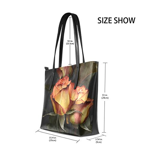 Satchel Women's Top Bags Tote Bennigiry Large Handbags Handle Roses Purse Shoulder Valentine's Day Y6nndqa