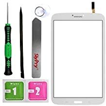 Prokit Adhesive for Samsung Galaxy Tab 3 8.0 SM-T310 white Touch Screen Digitizer Panel Glass Replacement Part + PreInstalled Adhesive with SlyPry tools kit