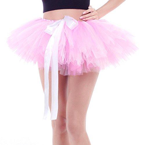 Mini Pink Diamondo Multilayers Bowknot Skirts Women White Tutu Tulle Dance Ballet P0x1wq7O