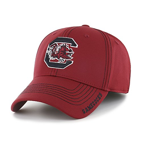 (NCAA South Carolina Fighting Gamecocks Adult Start Line Ots Center Stretch Fit Hat, Medium/Large, Razor Red)