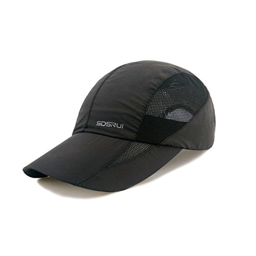 LETHMIK Sport Cap Summer Quick-Drying Sun Hat Unisex UV Protection Outdoor Cap New Black
