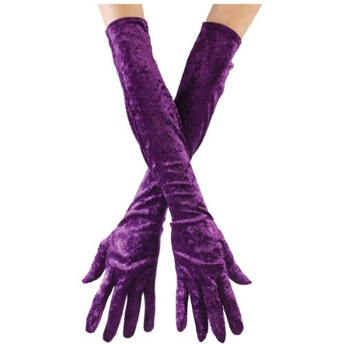 Long Velvet Gloves (Long Velvet Gloves Clothing)