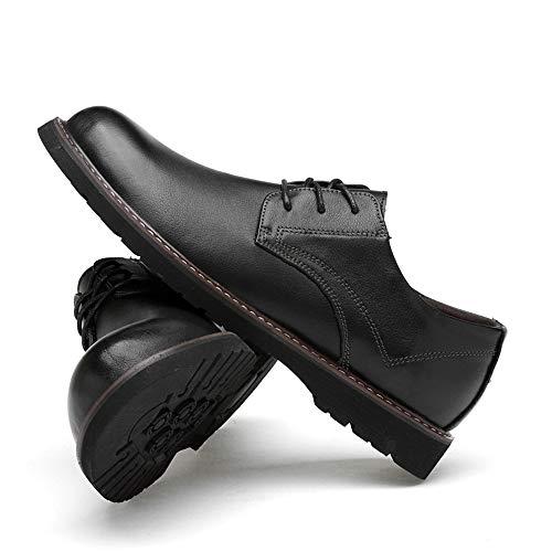 Cómodo Mxl Negro Zapatos Vestir Formales Redonda Sólido Casual Punta Color Masculina Moda De Oxford Clásico SwrwqCAU