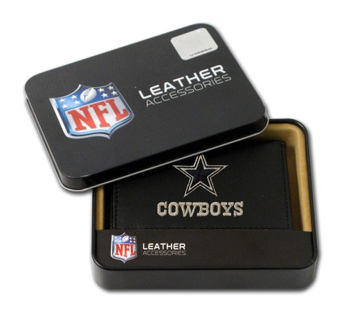 Leather Dallas Cowboys Embroidered Wallet - Rico Industries Dallas Cowboys Embroidered Leather Tri-Fold Wallet