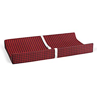 """Glenna Jean Flannel Check 16"""" x 32"""" Changing Pad Cover for Baby Nursery"""