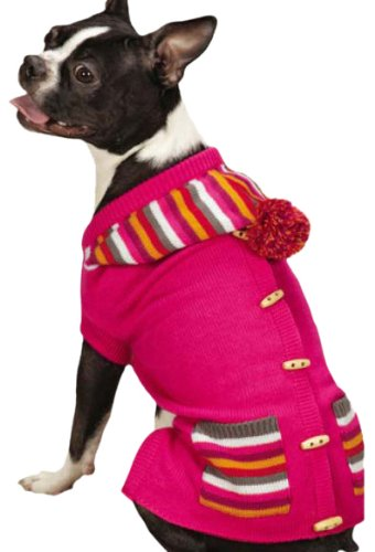 East Side Collection Bright Stripe Sweater Vest for Dogs, 14″ Small/Medium, Pink Review