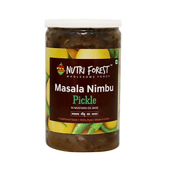 Nutri Forest Masala Nimbu Pickles - Masala nimbu achar Pickle Dry (400grams)