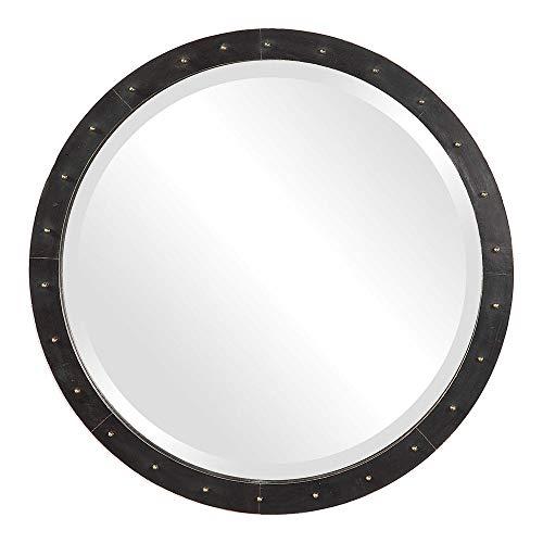 Zinc Decor Bathroom Vanity Dark Bronze Round Wall Mirror 26
