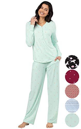 (Addison Meadow Pajama Set for Women - Cute Pajamas for Women, Aqua, 3X, 28)