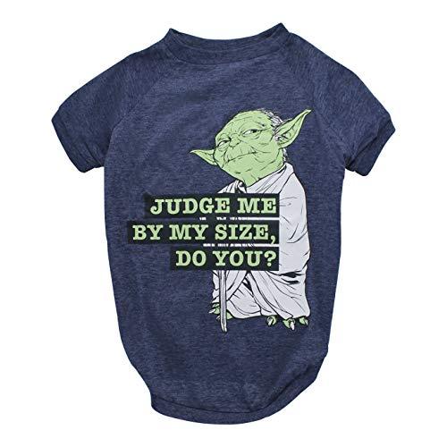 "Star Wars Yoda ""Judge Me By My Size, Do You?"" Dog Tee | Star Wars Dog Shirt for Medium Sized Dogs | Medium"