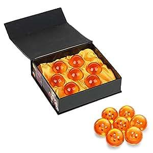 BRone Bolas del Dragón Dragon Ball, 7PCS DragonBall Z Bolas de Dragón 1 a 7 Estrellas con Caja de Regalo, Regalo de Año Nuevo para Coleccionar o Regalar para Niños/Anime Amante - Diámetro 4,3CM