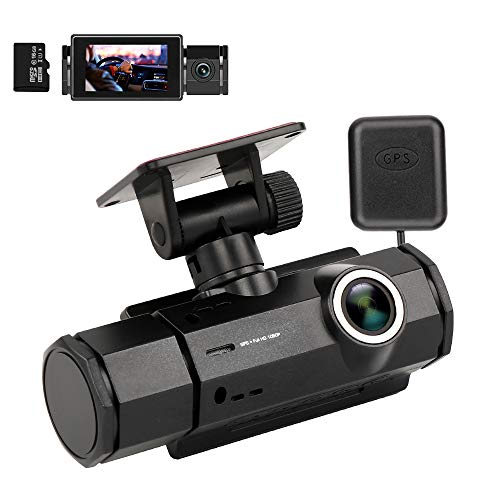 Dash Cam with Night Vision, XQCK Dashboard Camera 1080P FHD DVR Car Driving Recorder Wide Angle, Track Playback, G-Sensor, Loop Recording, Motion Detection, Parking Monitor,16G TF Card