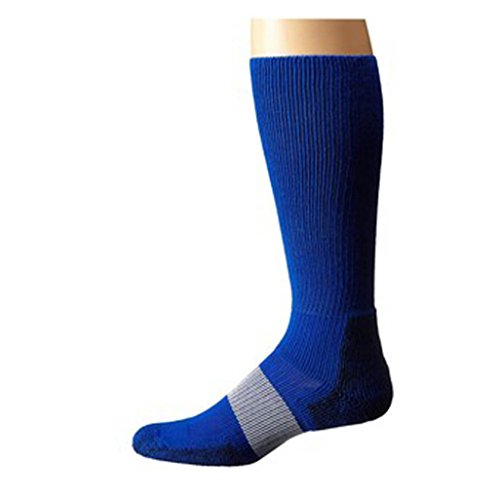 Thorlo Unisex 1 Pair Padding Foot Protection Socks Blue Cleated Sports XL