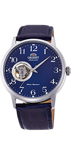 Orient Men's '2nd Generation Esteem' Japanese Automatic Stainless Steel and Leather Dress Watch, Color:Blue (Model: RA-AG0011L10A)