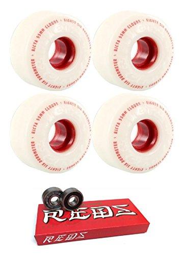 既婚断言する精神55 mm RictaホイールClouds Wheels with Bones Bearings – 8 mm Bones Super Redsスケート定格ベアリング – 2アイテムのバンドル
