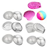 EMAZON ONLINE Metal DIY Bath Bomb Molds 5 Sets - 3 Size 6 Set Hemispheres, 1 Set Scallop Shape,1 Set Shell Shape - for Crafting Your Own Fizzles