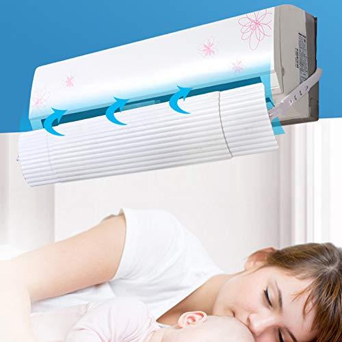 Deflector de Aire Acondicionado Ajustable con Salida de Aire telesc/ópica y protecci/ón contra el Viento para el hogar Domeilleur