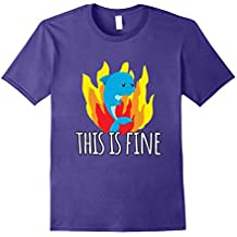 This Is Fine Funny Fire Dolphin T Shirt Denial