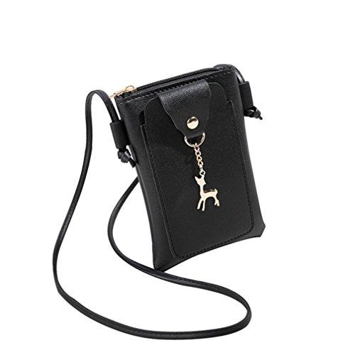 Bag Cover Strap Girl Women Bags Purses Bag Clutches Theft Shoulder Backpacks VEMOW Bags Messenger Patchwork Vintage Purse 1 Crossbody Anti Handbag Satchel Phone Tote Black Deer Coin d8wqtd