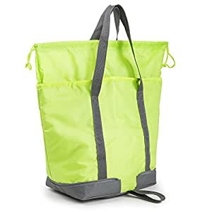 XMBEDERT Insulated Grocery Shopping Cooler Soft Picnic Cooler Bag Leak-proof, Green