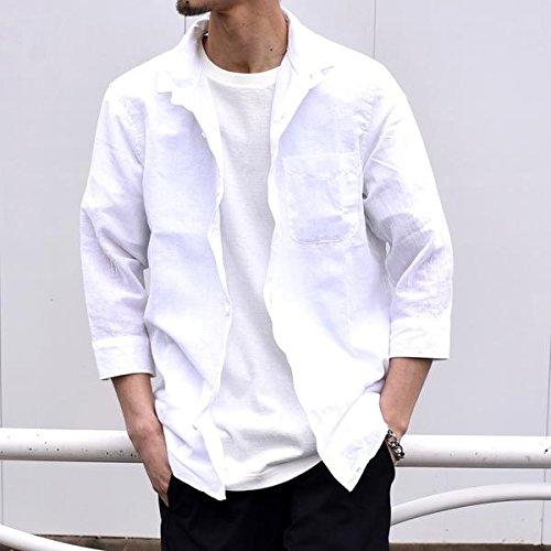 シップス(メンズ)(SHIPS) SU: 【COOL MAX】リネンシャツ ワイヤー 7スリーブ B07BJCR981 LARGE|ホワイト ホワイト LARGE