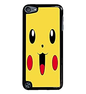 Pikachu Large Black Hardshell Case for iPod Touch 5G iTouch 5th Generation