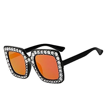 TIANLIANG04 Gafas de Sol para Mujeres del Cristal del ...