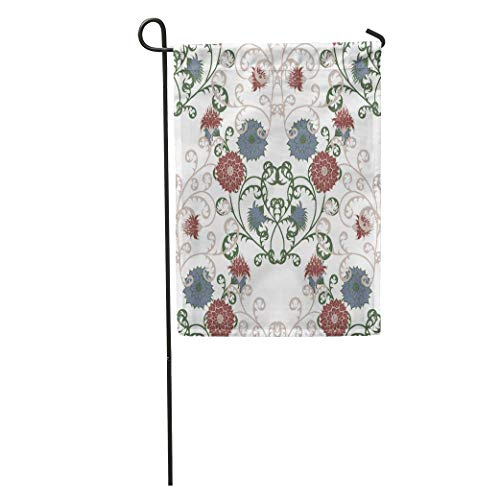 Carl McIsaacDoor Garden Flag Floral Rapport in Vintage Big Flowers of Michaelmas Daisy Aster Home Yard House Decor Barnner Outdoor Stand 12x18 Inches ()