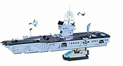 En Aircraft Carrier (990+ Pcs) Building Blocks Bricks Compatible