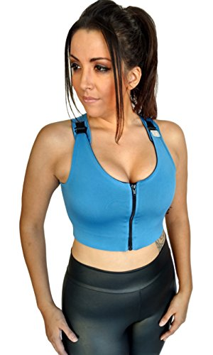 Brilliant Contours Post Surgical Comfort Compression Sports Bra: Sky Blue Dragonfly – M Review