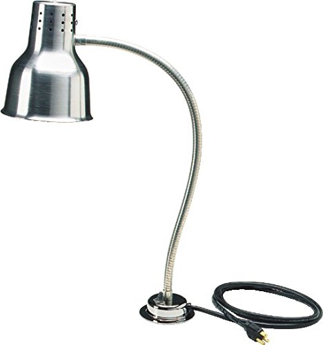 Carlisle HL818500 FlexiGlow Aluminum Heat Lamp with Bulb, Single Arm, 24
