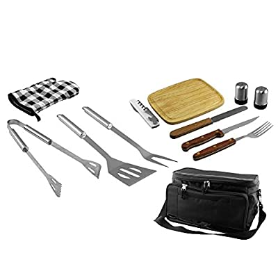 Fine Life 12-Piece BBQ Set with Built-In Cooler Bag