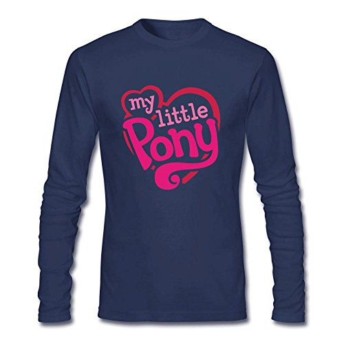 Tommery Men's My little pony Hasbro Rainbow Dash Costume Logo Long Sleeve Cotton T (Pat Benatar Costume)