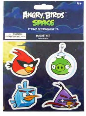 Angry Birds SPACEFlat Magnet 4Pack #2 Red Bird, Ice Bird Lazer -