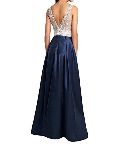 Lang La Abschlussballkleider Abendkleider Festlichkleider Jugendweihe Steine mia Brau Partykleider Blau Kleider Promkleider mit qRqSgBnTx
