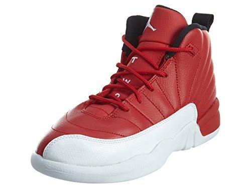 Size 1.5 Youth Nike Air Jordan 12 Retro BP Gym Red/White 151186 600 by Jordan