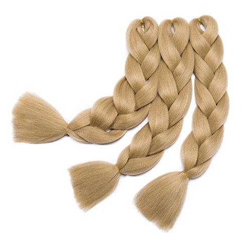 Women 24inch Kanekalon Jumbo Braids Hair Ombre Two Tone Colo