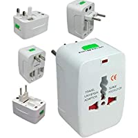 Souxe Universal Travel Adapter, 250V Surge/Spike Protected Electrical Plug (White)